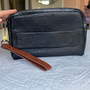 French connection clutch with wristlet